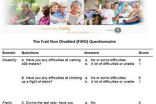 Frail non-Disabled questionnaire