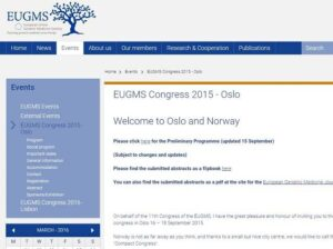 Eugms Congress September 2015 - Oslo, Norway